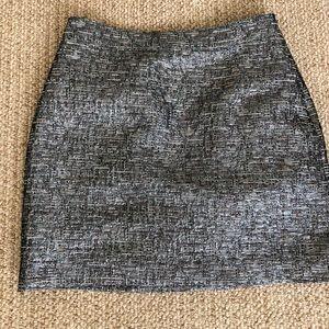 BR metallic mini skirt